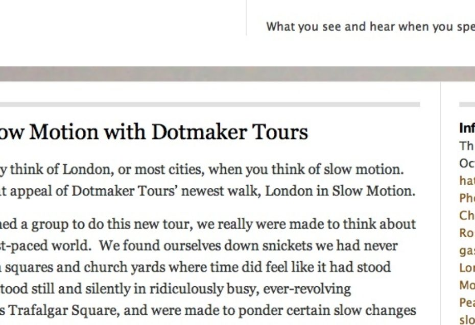 London In Slow Motion, October 2013