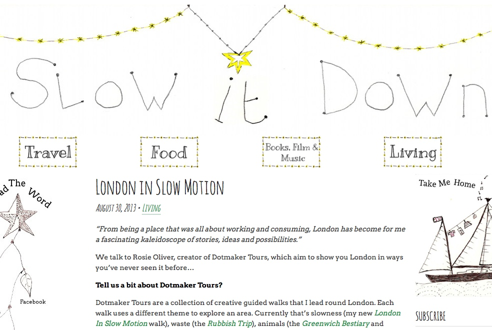 Interview with Slow It Down eZine, 30 August 2013