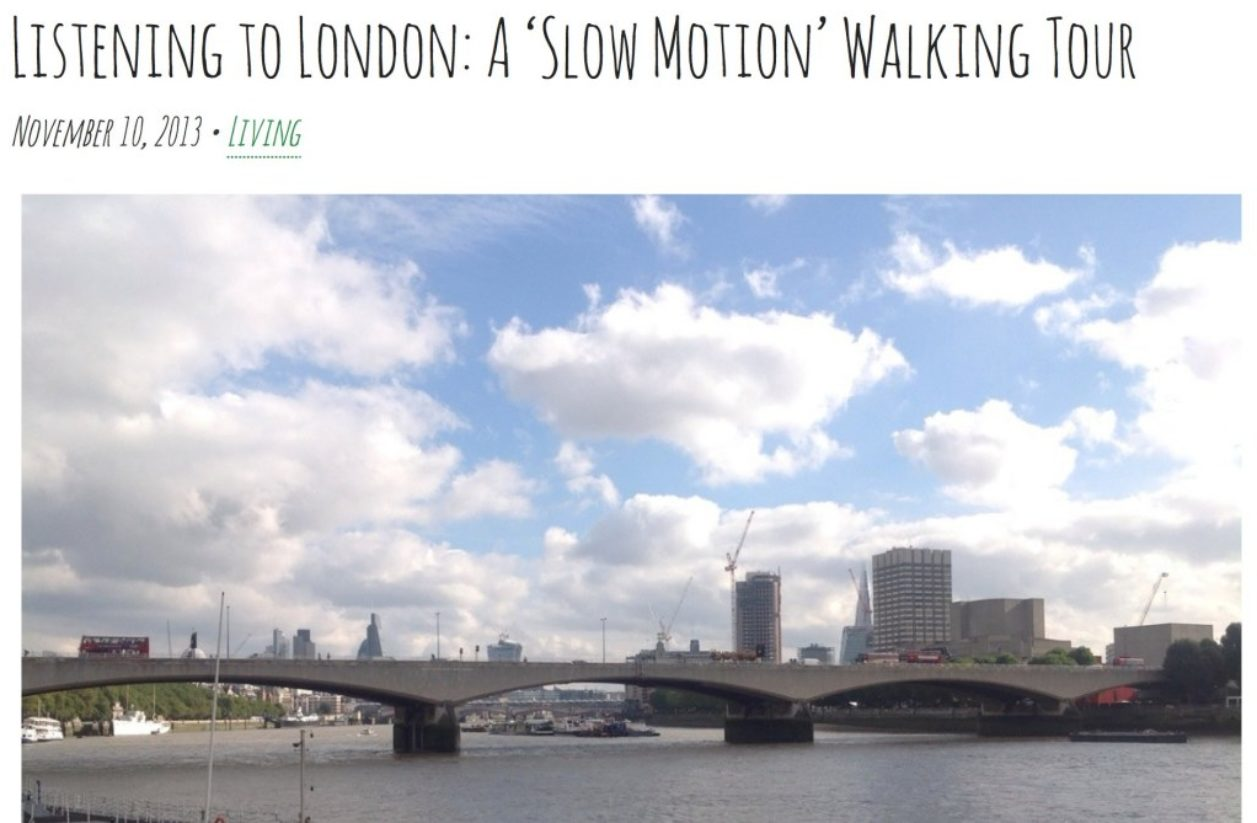 London In Slow Motion, November 2013