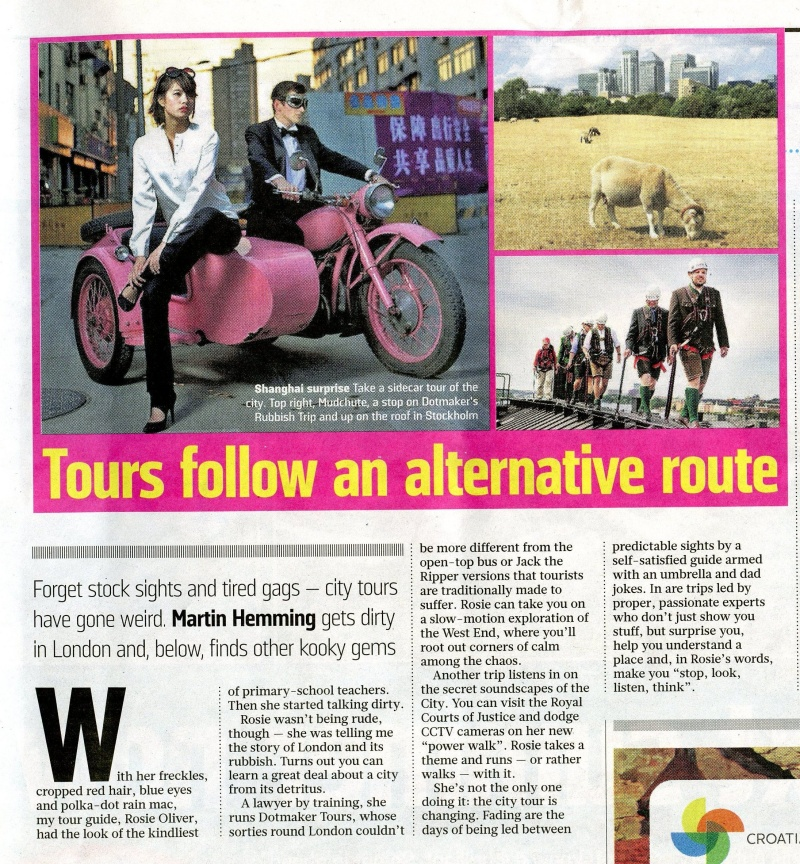 Sunday Times feature on the Rubbish Trip