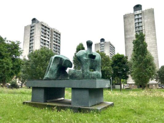 Henry Moore sculpture on the Brandon Estate